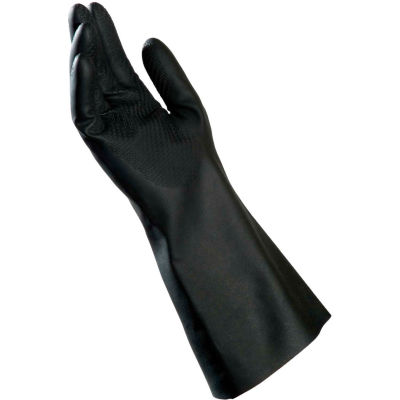 """MAPA® 650 BUTOFLEX® Chemical Resistant Butyl Gloves, Supported, 14"""" L, Size 8, 650318"""