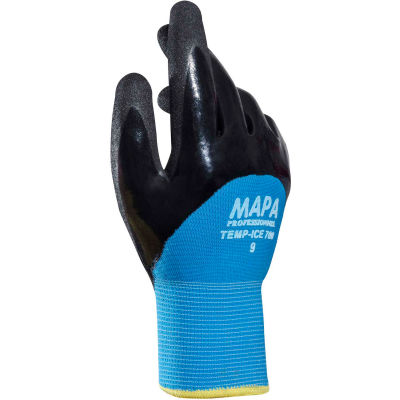 MAPA ® Temp-Ice 700 Nitrile 3/4 Coated Thermal Gloves, 1 Pair, Size 9, 700419
