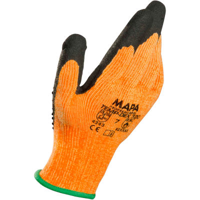 MAPA ® Temp-Dex 720, Nitrile Palm Coated Thermal Gloves w/ Dots, Medium Weight, 1 Pair, Size 9