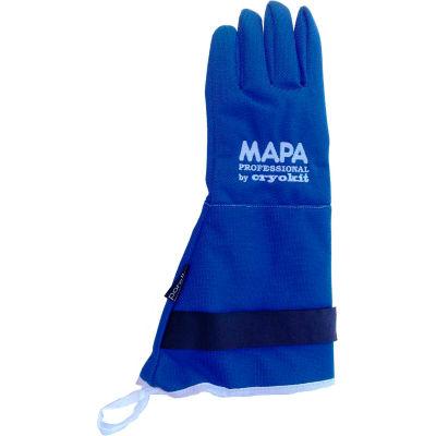 "MAPA® Cryoplus 2.1 Waterproof Cryogenic Gloves, 15""L, Blue, 1 Pair, Size 7, CRYPLS213807"