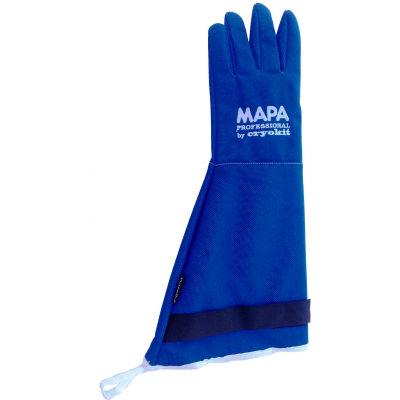 "MAPA® Cryoplus 2.1 Waterproof Cryogenic Gloves, 18""L, Blue, 1 Pair, Size 10, CRYPLS214510"