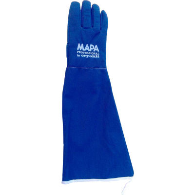 "MAPA® Cryoplus 2.1 Waterproof Cryogenic Gloves, 22""L, Blue, 1 Pair, Size 10, CRYPLS215510"