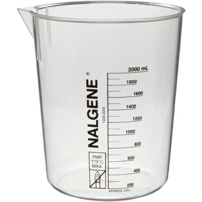 Thermo Scientific Nalgene™ PMP Griffin Low-Form Plastic Beaker, 400mL, Case of 24