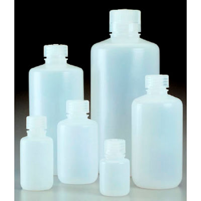 Thermo Scientific Nalgene™ Narrow-Mouth HDPE Economy Bottles with Closure, 500mL, Case of 48