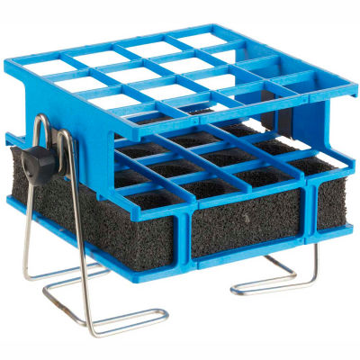 Thermo Scientific Half-Size Test Tube Rack Clamp, For 21-25mm Tubes, 4 x 4 Array, Blue