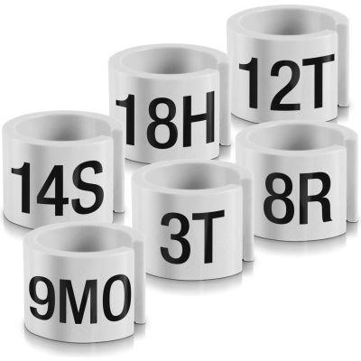 "12MO Mini Marker, 1/2"", Off White W/Black Print, 100/Pack"