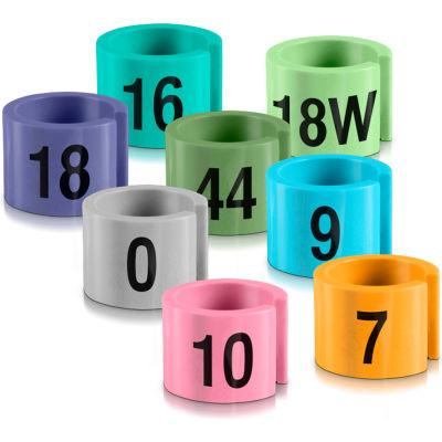 """28W Mini Marker, 1/2"""", Aqua W/Black Print, 100/Pack"""