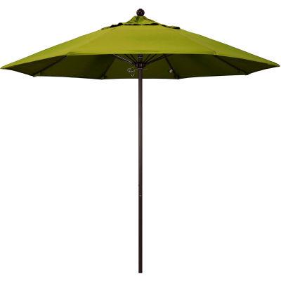 California Umbrella 9' Patio Umbrella - Olefin Kiwi - Bronze Pole - Venture Series