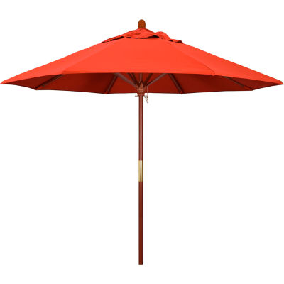 California Umbrella 9' Patio Umbrella - Olefin Sunset - Hardwood Pole - Grove Series