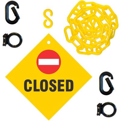 """Mr. Chain Closed Sign Kit, 2""""x6'L Chain"""