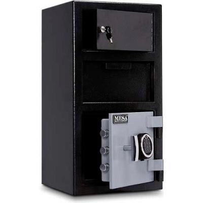 Mesa Safe B-Rate Depository Safe MFL2014E-OLK Front Loading Digital Lock-Keyed Exterior,14x14x27-1/4