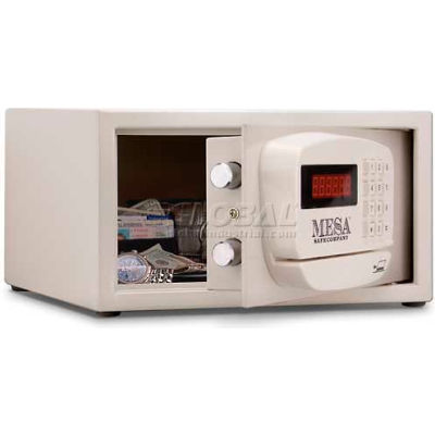 """Mesa Safe Hotel & Residential Electronic Security MH101E-KA Keyed Alike, 15""""W x 10""""D x 7""""H, White"""