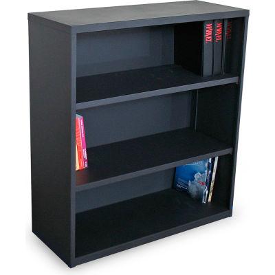 """Ensemble Three Shelf Bookcase, 36""""W x 14""""D x 40""""H - Dark Neutral"""