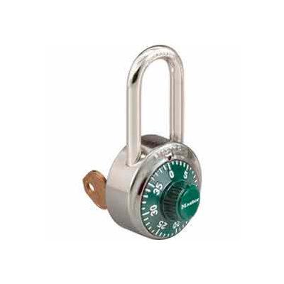 Master Lock® No. 1525LFGRN General Security Combo Padlock - Key Control - LF Shackle - Green