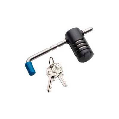 Master Lock® Adjustable Coupler Latch Lock, Stainless Steel - Pkg Qty 4