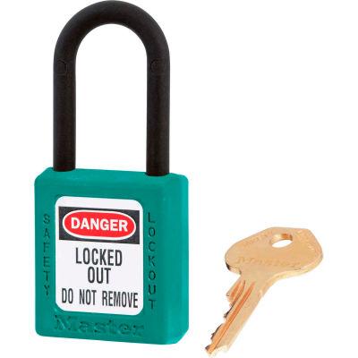 Master Lock® Dielectric Zenex™ 406KAS3TEAL Safety Padlock, Teal, 3/Set