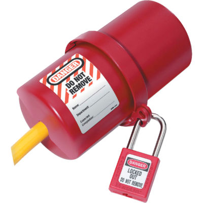 Master Lock® Rotating Electrical Plug Lockout, 220-550 Volts Plus, 488