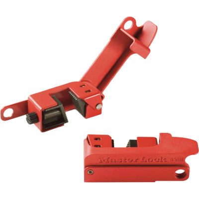 Master Lock® Grip Tight™ Circuit Breaker Lockout, Tall and Wide Toggles, 491B