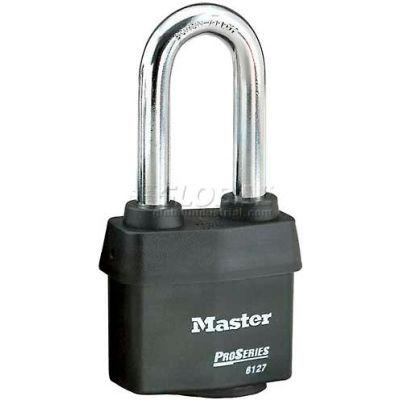 Master Lock® No. 6127LJ High Security Steel Weather Resistant Covered Laminated Padlocks - Pkg Qty 24