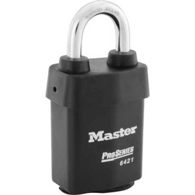 "Master Lock® No. 6421WO ProSeries® Solid Steel IC Padlock, 2-1/8""W - Pkg Qty 6"