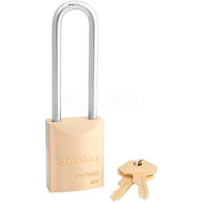 Master Lock® No. 6830KALT High Security Brass Solid Body Padlocks - Pkg Qty 24