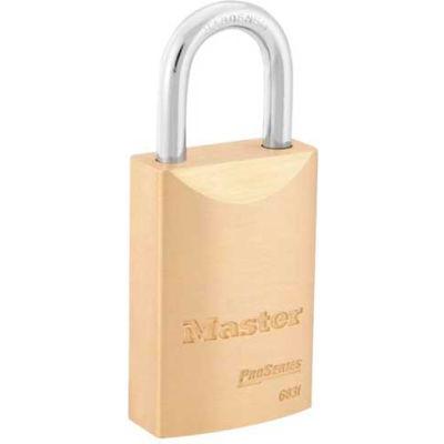 "Master Lock® No. 6831WO ProSeries® Brass IC Padlock, 1-9/16""W - Pkg Qty 6"