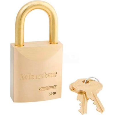 Master Lock® No. 6840KAB High Security Brass Solid Body Padlocks - Pkg Qty 24