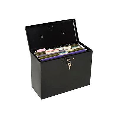 """Master Lock® No. 7148D Steel Security File Box 13-1/2""""L x 6""""W x 10-1/2""""H, Black"""