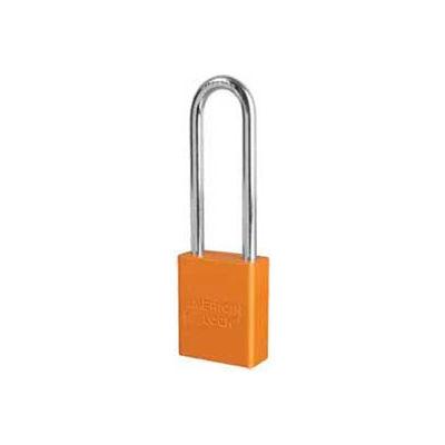 American Lock® No. A1107ORJ Solid Aluminum Rectangular Padlock - Orange - Pkg Qty 24