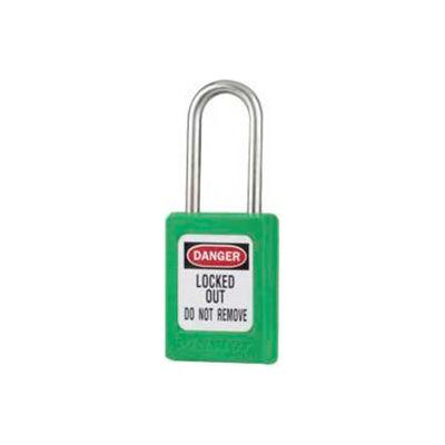 "Master Lock® Safety Padlock, Short Zenex™, 3/16"" Body X 1-1/2"" Shackle, Green"