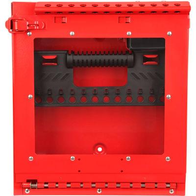 MasterLock® Wall Mount Group Lock Box With Window, Red, S3502