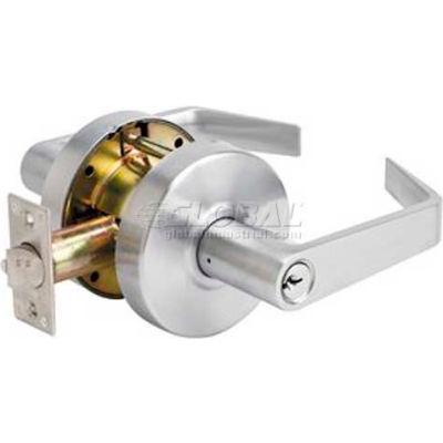 Master Lock® Heavy Duty Lever, Keyed Entry W/BumpStop, Brushed Chrome