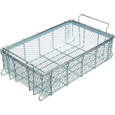 "Marlin Steel Material Handling Basket 21""L x 13-1/4""W x 5-7/16""H - 0.5"" Wire - Plain Steel"
