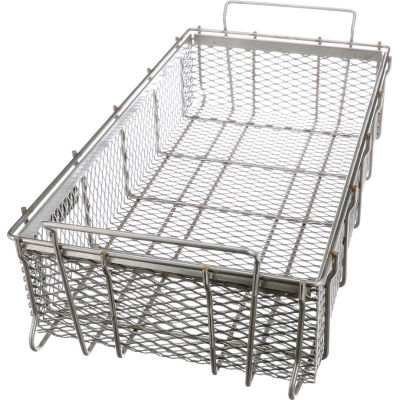"Marlin Steel Material Handling Basket 24""L x 13-1/4""W x 5-7/16""H - 0.5"" Wire - Stainless Steel"