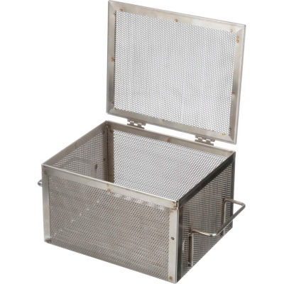 """Marlin Steel Perforated Basket 10-9/16""""L x 8-7/16""""W x 6-1/4""""H Stainless Steel Price Each for Qty 5+"""