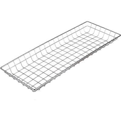 "Marlin Steel Plain Steel Chrome Plated Wire Nesting Basket 26""L x 10""W x 2""H, Qty 5+"