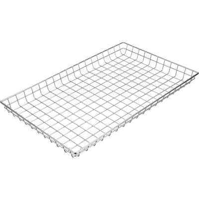 "Marlin Steel Plain Steel Chrome Plated Wire Nesting Basket 26""L x 16""W x 2""H, Qty 5+"