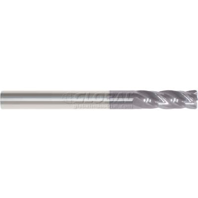 """Made in USA 4 Flute Carbide Sq Single End Mill 1/4"""" Dia 1/4"""" Shank 1/2"""" Flute 2"""" OAL"""