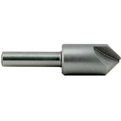 """Made in USA Solid Carbide 1 Flute Countersink 60° 3/8""""x1/4""""x2"""""""