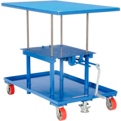 Hand Crank Operated Mechanical Post Table MT-2442-HP - 24 x 42 High Profile