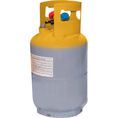 """Mastercool® 62010 30 lb. D.O.T.  Refrigerant Recovery Tank Without Float Switch 1/4"""" FL-M"""