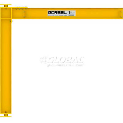 Gorbel® HD Mast Type Jib Crane, 12' Span & 14' OAH, Full Cantilever, 500 Lb Cap