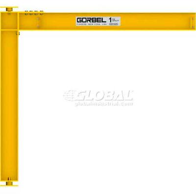 Gorbel® HD Mast Type Jib Crane, 18' Span & 18' OAH, Full Cantilever, 2000 Lb Cap