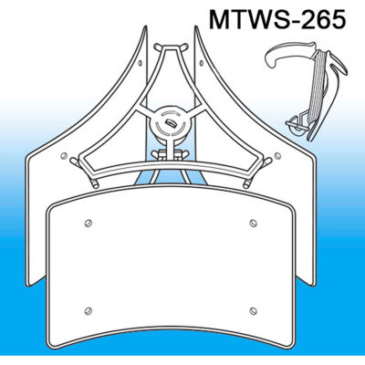 """Mobile Ceiling Kit, 20"""" To 40""""W - Pkg Qty 5"""