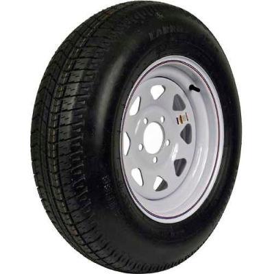 Martin Wheel ST205/75D-15 Trailer Tire & Custom Spoke Wheel Assembly DM205D5C-5CT