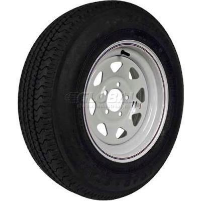 Martin Wheel 205/75R-15 Radial Trailer Tire & Custom Spoke Wheel Assembly DM205R5C-5CI