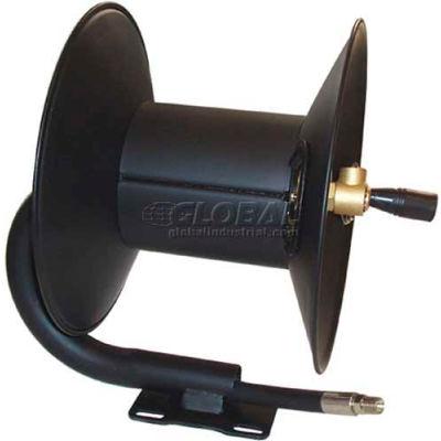 "MTM Hydro 27.0004 3/8"" X 50' Capacity 4000 PSI Steel Pressure Washer Hose Reel"