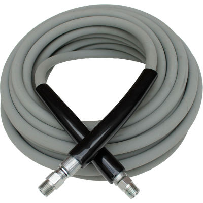 "MTM Hydro 29.5213 Kobrajet 3/8"" x 75' 4000PSI Hot/Cold Water Non-Marking MNPT Pressure Washer Hose"
