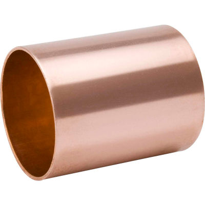 Mueller W 10148 1-1/4 In. Wrot Copper Staked Stop Coupling - Copper