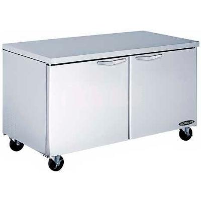 """Kool-It KUCR-60-2 Undercounter Refrigerator 60"""" Double Door"""